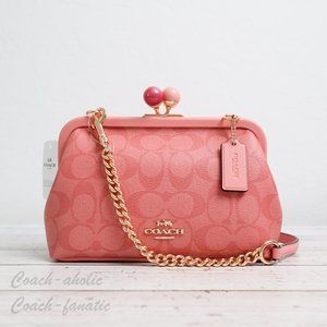 NWT Coach Nora Kisslock Crossbody in Candy Pink